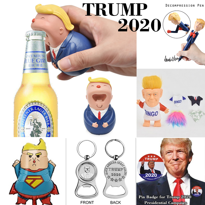 US President Donald Trump 2020 Re-Election Souvenir Collections Toilet Brush/ Beer Opener/Doll Funny Gag Gifts Dump With Trump