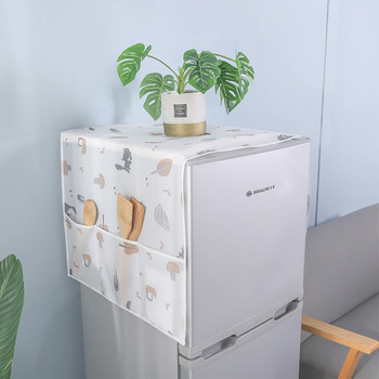 1pc Cartoon Fox wolf pyłoszczelna pokrywa na lodówkę wodoodporna pralka płaszcz ochrona przeciwpyłowa Case akcesoria domowe tanie i dobre opinie CN (pochodzenie) Włosy syntetyczne CM0355 PRINTED Nowoczesne refrigerator organizer refrigerator cover