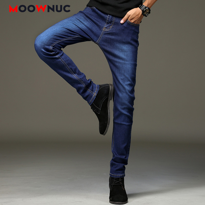 Jeans For Men 2020 New Casual Fashion Pants Straight Full-length Spring Summer Sweatpants Denim Male Streetwear MOOWNUC Slim 27