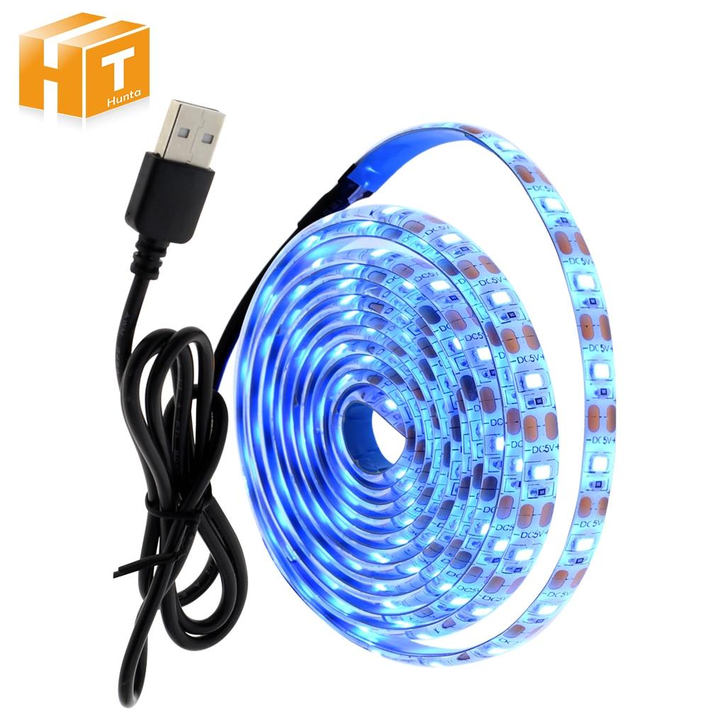 DC5V Ice Blue Fairy Light 2835 USB LED Strip Light 1M 2M Set For TV Background Lighting Home Decoracion