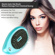 Portable Design Electric Ionic Hairbrush Hair Massage Comb Hair Magic Beauty Brush Comb Massage Home Travel Hair Styling Tool