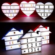 Домашний/светодиодный светильник в форме сердца лампа 5 В комбинированная