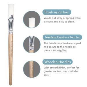 Image 3 - CONDA Paint Brushes 24 Pcs/Set Art Brush Watercolor Oil Acrylic Paints Professional Nylon Short Wood Handle with Brush Case