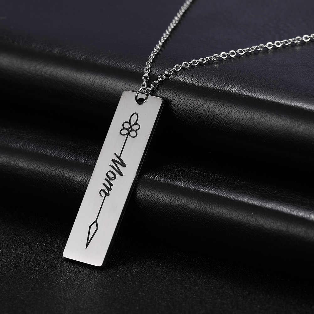 Skyrim модные Нержавеющаясталь цепи Цепочки и ожерелья Для женщин Семья папа дома слово мама утверждающий кулон Цепочки и ожерелья s индивидуальный ювелирный подарок