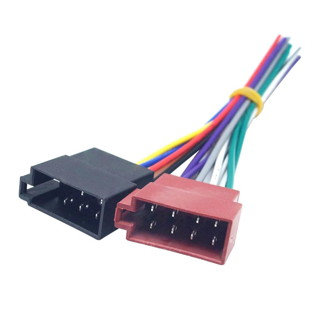 1 Pair Universal Car Stereo Female Socket Radio ISO Wire Harness Adapter Connector Car Electronics Accessories Wire Harness