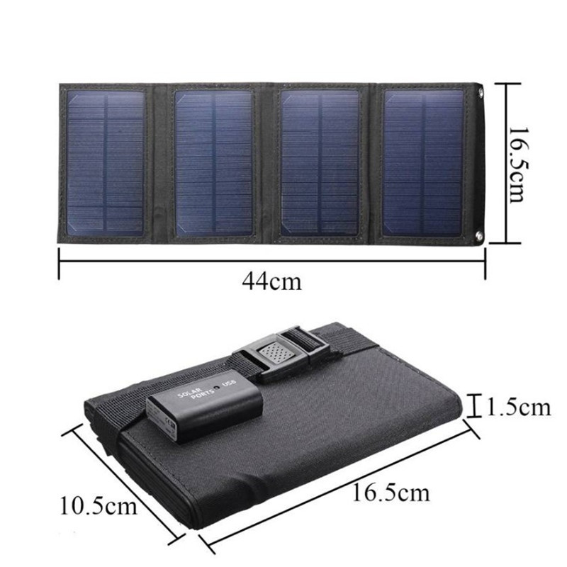 20w painel solar kit dobravel usb carregador 04