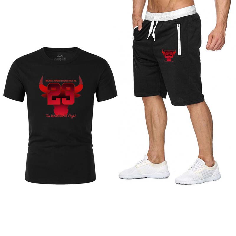 2 Piece Mens Outfits  Summer Short Set T-shirt Shorts Fashion Jordan T Shirt Casual Sport Suits  Jersey Set  Jogging Sweat Suits