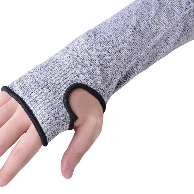 1 Pair Level 5 Cut Resistant Arm Guard Unisex Self defense Protective Gear Workplace Safety Protection Anti cutting Sleeve F48 in Men 39 s Arm Warmers from Apparel Accessories