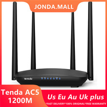 Tenda AC5 AC1200 Router 5dBi Antennes Wifi Repeater 2.4Ghz 5 Ghz Dual Band Routers App Controle Wifi Met Engels interface(China)