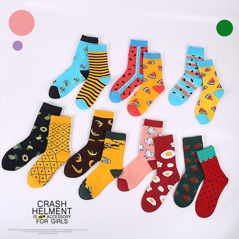 New 2019 Spring Summer AB Men Socks Trend Cotton Funny Happy Socks Cartoon Animal Bee Tiger Novelty Gift Calcetines Hombre