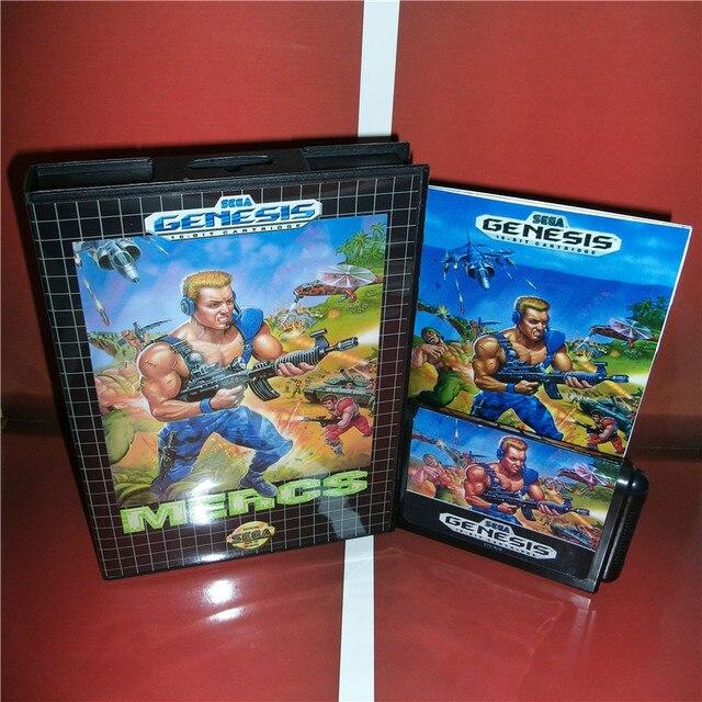 MD giochi di carte Mercs US Copertura con Scatola e Manuale Per Sega Megadrive Genesis Video Console di Gioco 16 bit carta MD