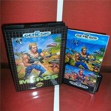 MD spiele karte Mercs UNS Abdeckung mit Kasten und Handbuch Für Sega Megadrive Genesis Video Spiel Konsole 16 bit MD karte