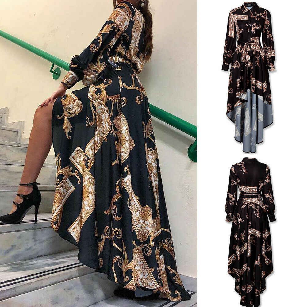 חם נשים פורמליות ארוך כדור שמלת נשף מסיבת חתונת שושבינה שמלת ערב ארוך שרוול בציר Boho Vestidos