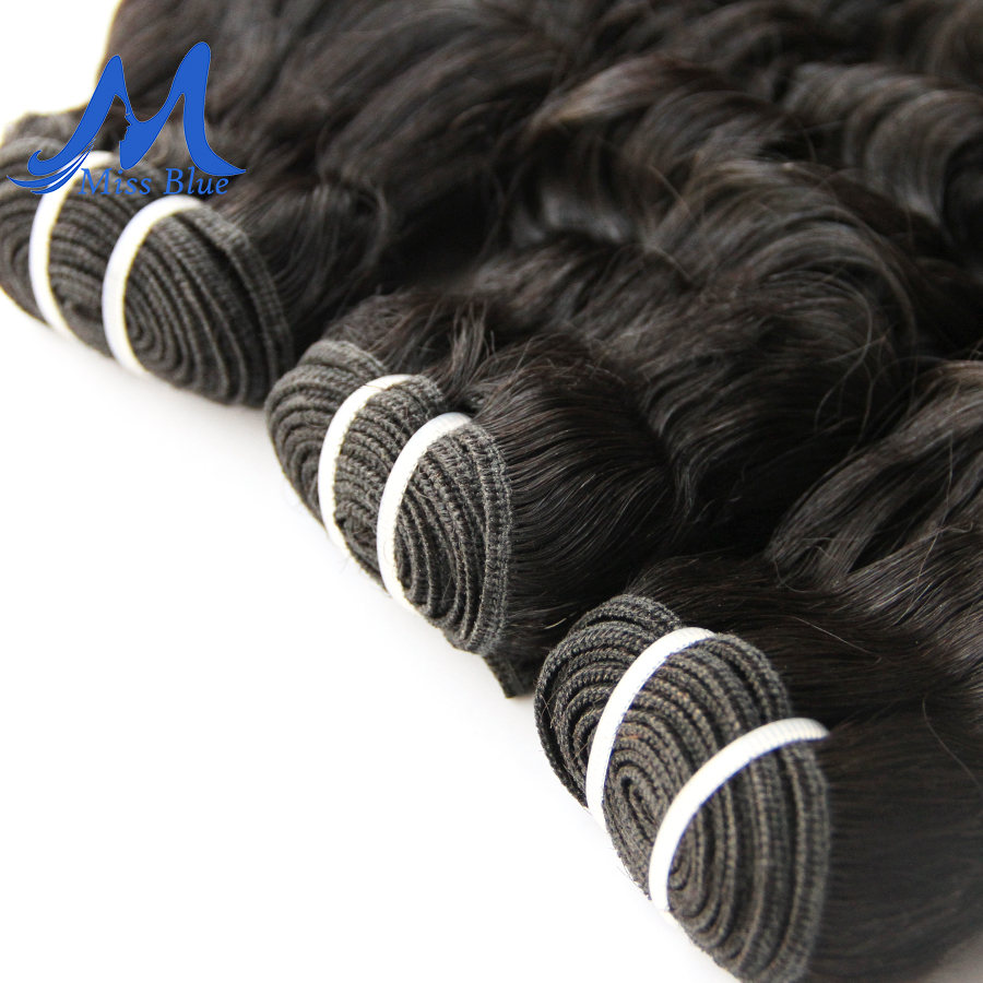 Missblue Deep Wave Malaysian Hair Weave Bundles 1 3 4 Pieces 100% Human Hair Bundles Natural Color Remy Hair Extensions 4