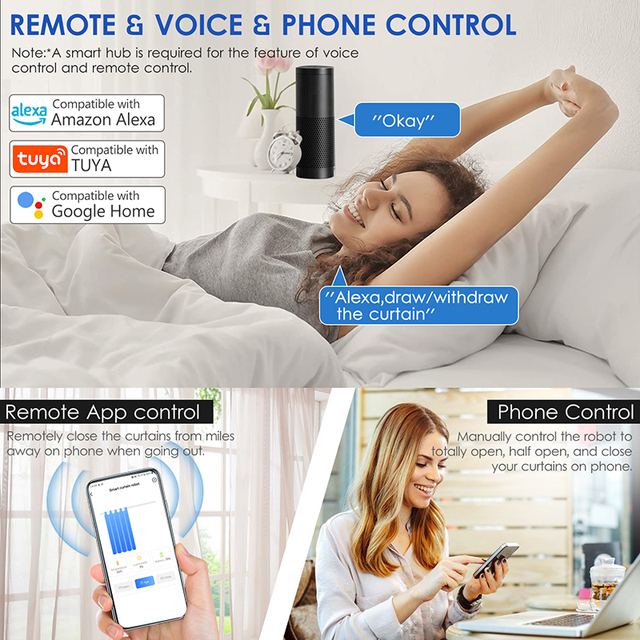 Smart curtain controller and electric curtain motor realize smart home voice control, automatic control, and timing control by r 3