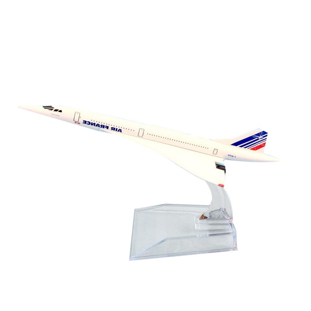 1/400 16cm Diecast Air France Concorde Plane Aircraft Airplane Model Kids Gift image
