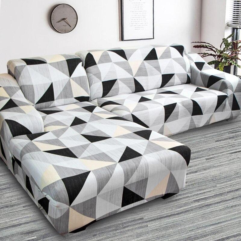 BEST SELLER) L Shape Corner Sofa Cover Elastic For Living ...