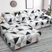 L shape need buy 2 pieces corner sofa cover elastic for living room printed cover for sofa slipcovers stretch 1/2/3/4 seat