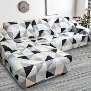 L shape need buy 2 pieces corner sofa cover elastic for living room printed cover for sofa slipcovers stretch 1/2/3/4 seat(China)