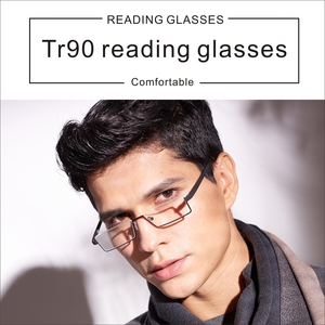 Image 3 - TR90 Womens Half Frame Reading Glasses for Men Readers Glasses Metal Vision Magnifying Glasses Soft and Comfortable To Wear Male