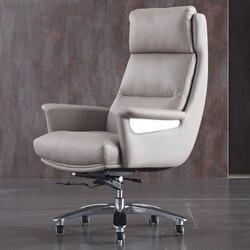 Yüksek dereceli koltuk patron hakiki deri iş ofis koltuğu