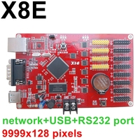 Kaler X8E ethernet network LED control card 9999*128 pixels X8 USB led controller for advertising display with 8*hub12 ports