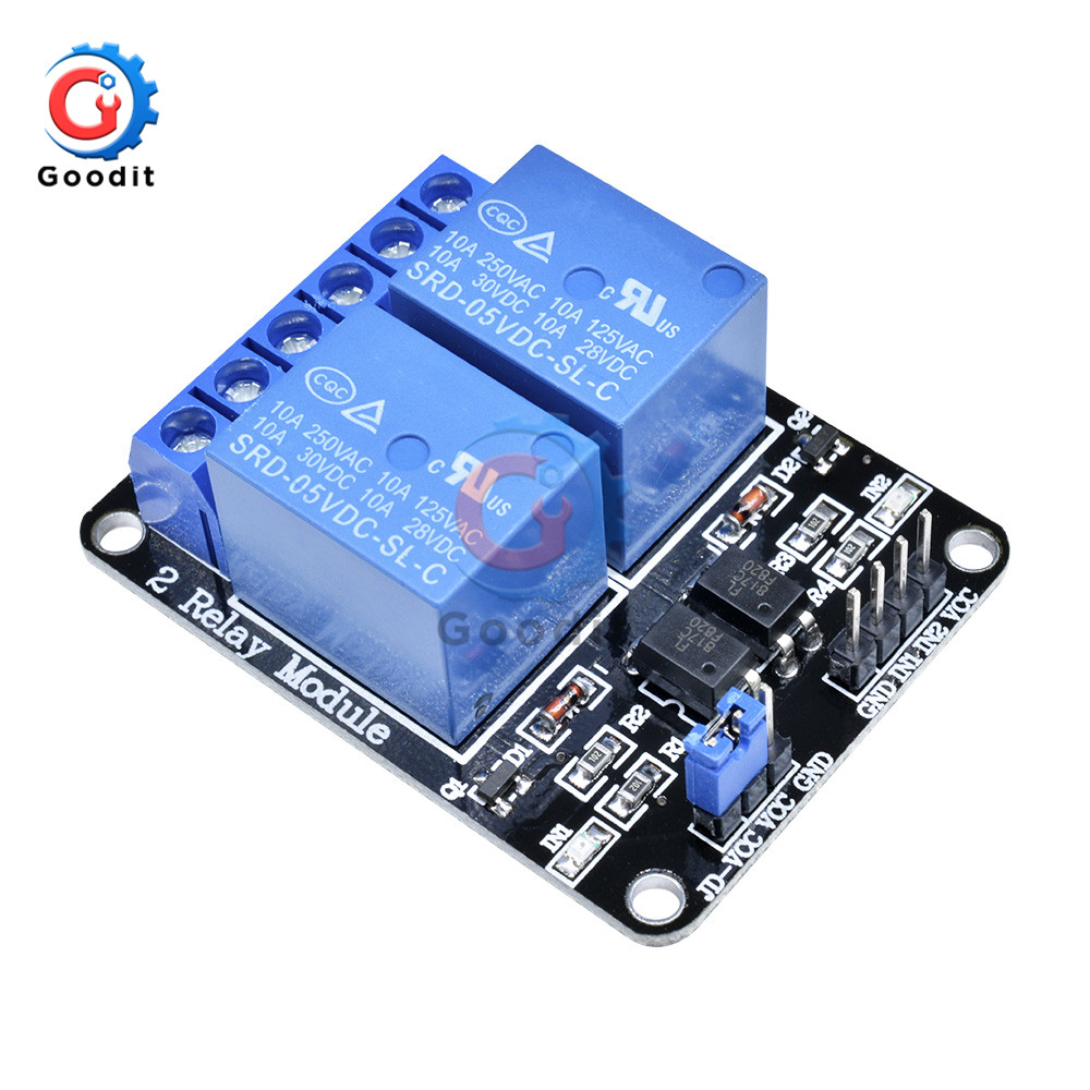 2PCS 12v 2 Channel Relay Module Indicator Light LED Arduino PIC ARM DSP AVR
