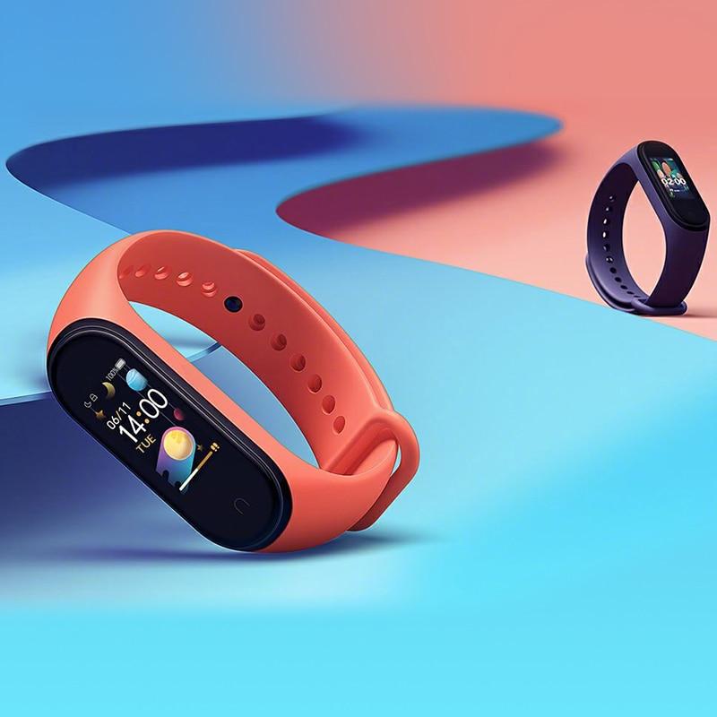 Original Xiaomi Banda Inteligente Miband Pulseira Freqüência Cardíaca Fitness 135 Mah Tela Colorida Bluetooth 5.0 Dropshipping Atacado mi 4