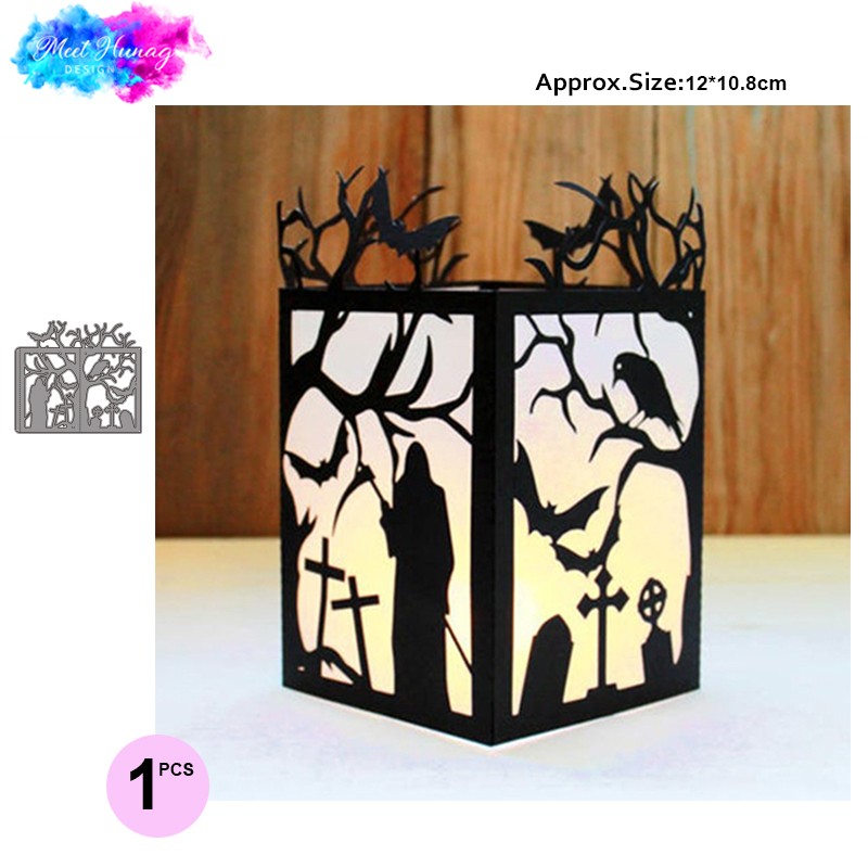<font><b>Halloween</b></font> lantern Metal Cutting <font><b>Dies</b></font> tree bird Crafts <font><b>Die</b></font> Cuts For DIY Scrapbooking Paper Cards Decorations <font><b>stamps</b></font> <font><b>and</b></font> <font><b>dies</b></font> image