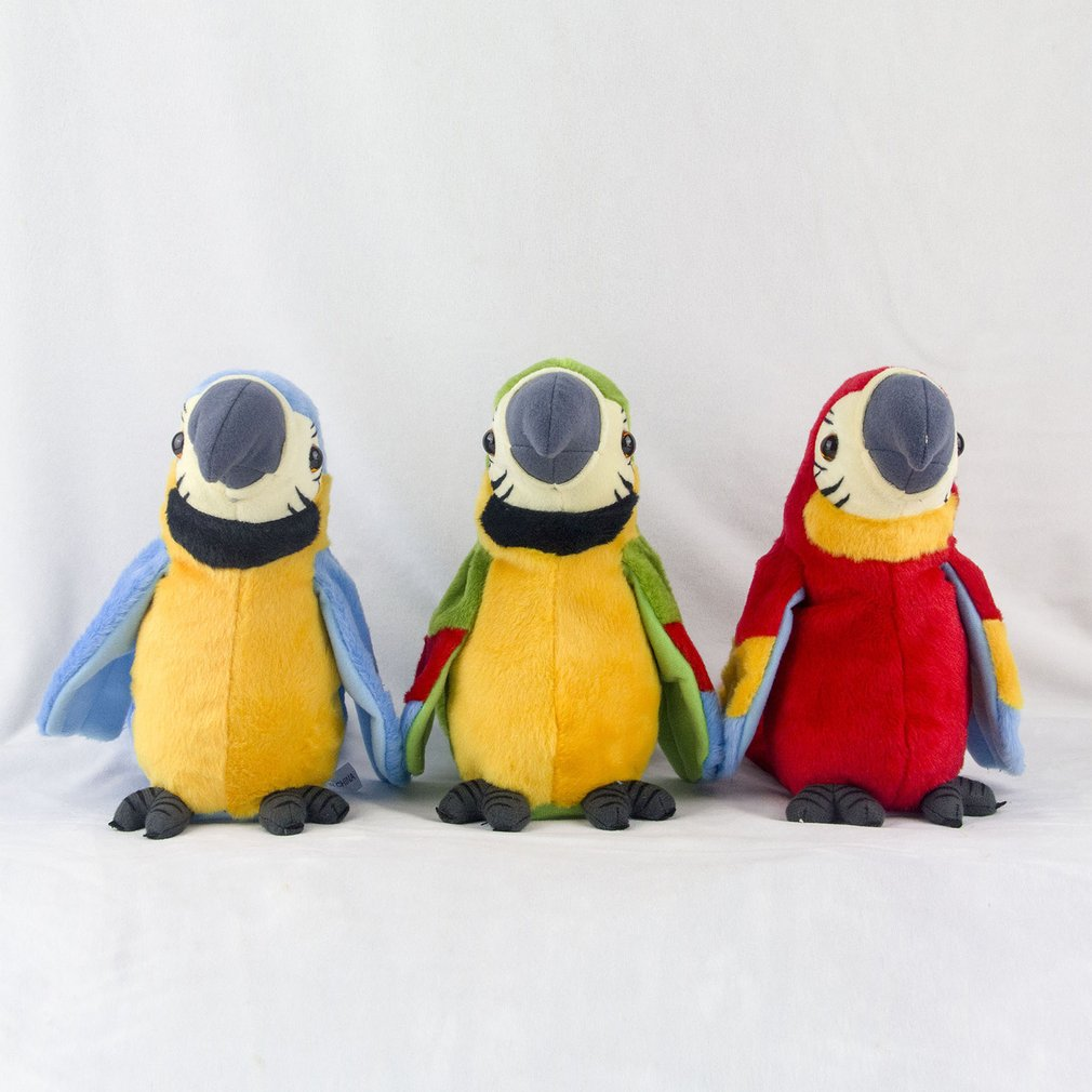 Talking Record Cute Parrot Waving Wings Electronic Pet  Stuffed Plush Toy Educational Toy For Kids Birthday Gift Boy Girl New