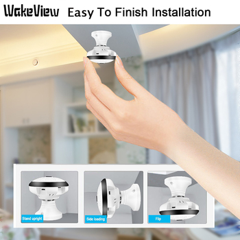 WakeView 360 Degree 960P Wireless Panoramic Home Security WiFi CCTV Fisheye Smart IP Camera Two Way Audio Night Vision Camera 360 degree panoramic ip camera fisheye wifi cctv cam ptz 3d vr video p2p 720p audio for home ofiice security remotely mon