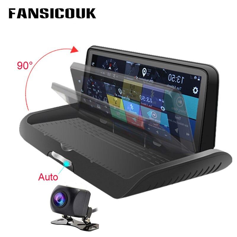Автомобильный видеорегистратор FANSICOUK 4G ADAS 8 ''на приборной панели Android WiFi GPS навигатор с двумя объективами видеорегистратор 3G Автомобильный в...