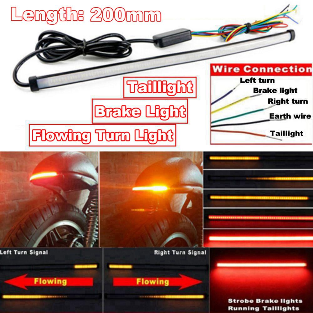 SALE DC 12-24V Motorcycle Sequential LED Turn Signal Light Taillights Strip Motorcycle LED Light Strip Accessories Wholesale CSV