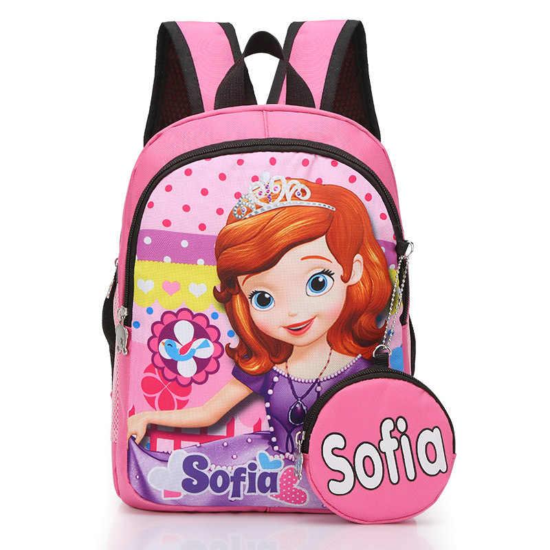 2 stücke Disney prinzessin 3-6 jahre alt schul + geldbörse Gefrorene Elsa mädchen junge handtasche kinder rucksack kindergarten rucksack