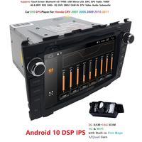 Hizpo Android10.0 2 din For Honda CRV CR V 2007 2011 Car DVD Navigation GPS HD Radio wifi obd2 playper rds video glonass usb DAB
