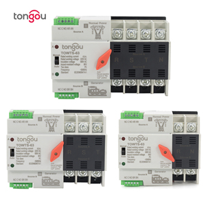 2P/3P/4P 16A 63A 100A ATS Automatic Transfer Switch Electrical Selector Switches Dual Power Switch 220V Mini ATS TOWTS-100(China)