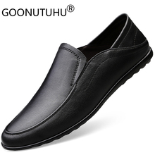 2019 new fashion men's shoes causal genuine leather male loafers classics solid brown black shoe man flats driving shoes for men все цены