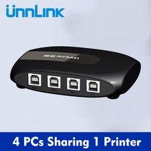 Unnlink usb 2.0 switch 4 ou 2 pces computador ou computador portátil compartilhamento 1 impressora de computador