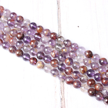 Purple Ghost Natural Stone Beads For Jewelry Making Diy Bracelet Necklace 4/6/8/10/12 mm Wholesale Strand