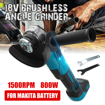 18V 800W Brushless Impact Angle Grinder Electric Cordless Polishing Grinding Machine Rechargeable Power Tools For Makita Battery 800w 220v 100mm portable electric angle grinder muti function household polish machine grinding cutting polishing machine