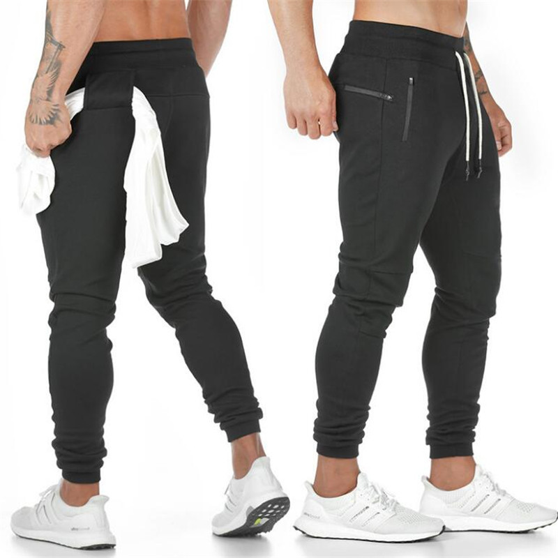 2019 New Men Gyms Pants Casual Elastic Cotton Mens Fitness Workout Pants Skinny Sweatpants Trousers Jogger Pants