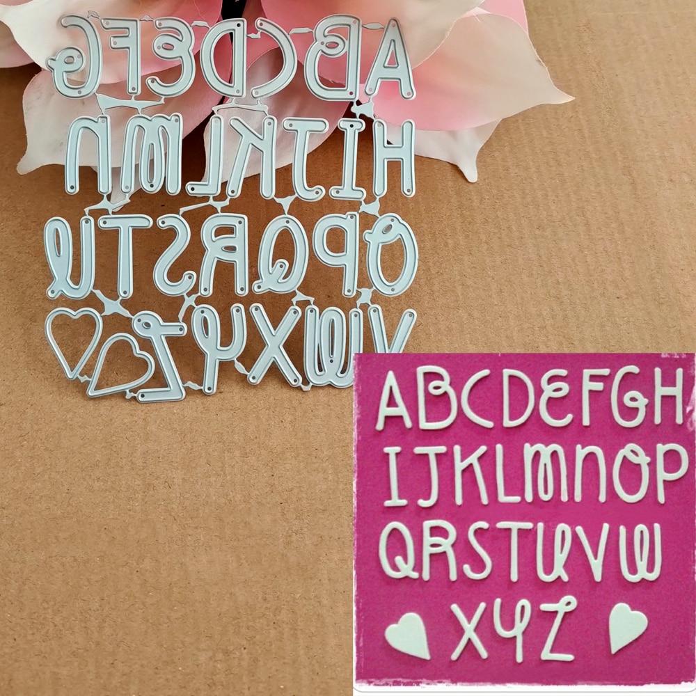 Graffiti 26 Alphabet Combination Cutting Metal Die Decoration For Scrapbook Punching Card Cutting DIY Process Edge Cutting