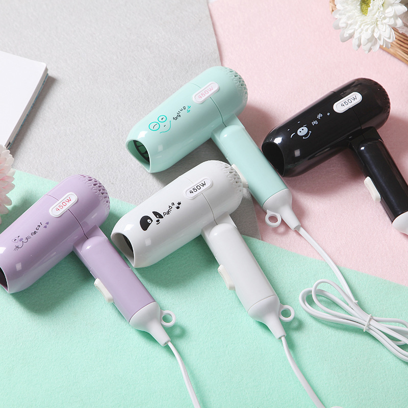 Kemei Mini Folding Blow Dryer Hair Dryer Students Dormitory Small Appliances Electrical Appliance Hair