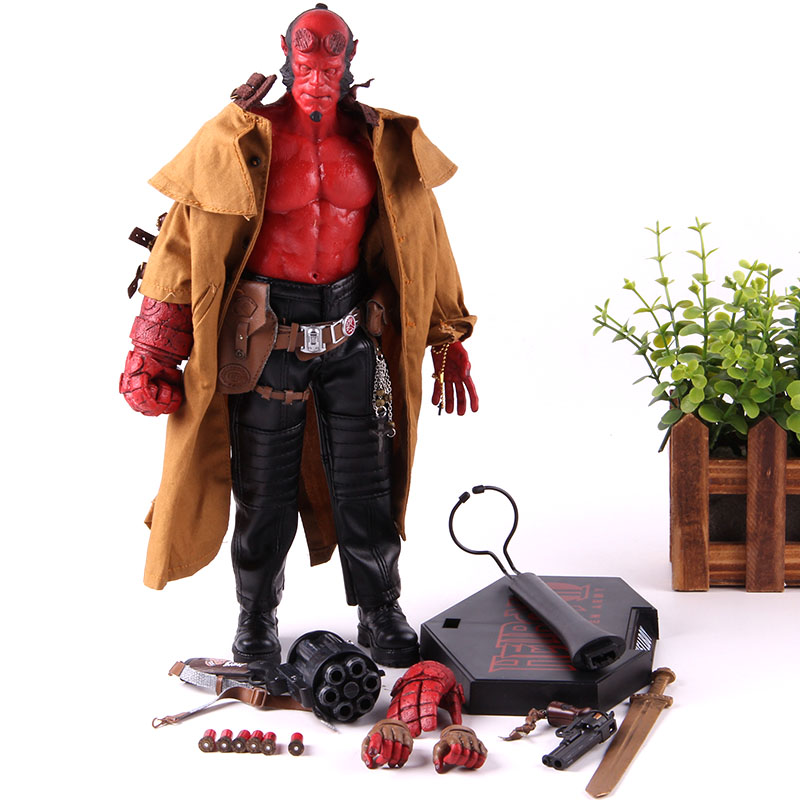"""Series 2 1:12 Doll Mezco Hellboy Golden Army HB 7/"""" Action Figure Smoking Ver"""