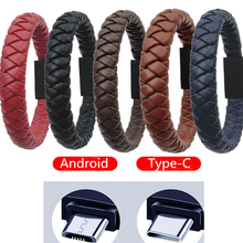 usb cables for iphone type c micro usb for samsung s9 s8 usb c multi function key chain portable charging sync data cord charger Outdoor Portable Leather Mini Type-C Micro USB Bracelet Charger Data Charging Cable Sync Cord For Android For Samsung S9 S8