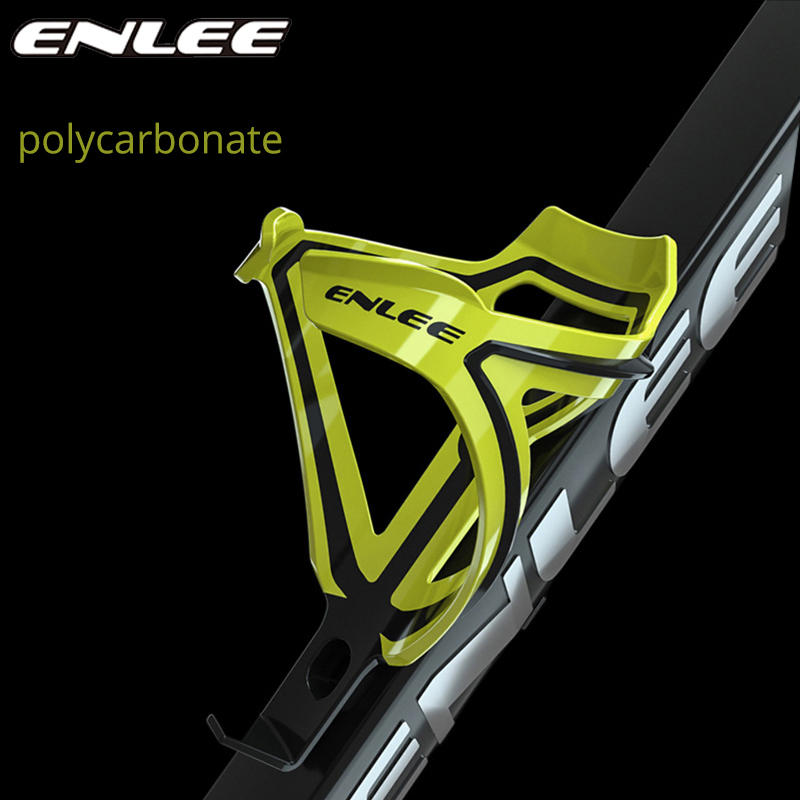 ENLEE MTB Bike Bottle Holder Polycarbonate Bottle Cage Road Mountain Bicycle Ultralight Highly Elastic Cycling Accessories Parts
