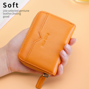 Image 5 - NewBring Genuine Leather Function NFC Blocking 12 30Bits Business Card Holder Unisex Zipper Bank/ID/Credit Card Wallet Women Men