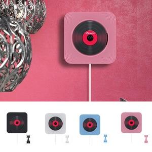 Image 1 - Leitor de dvd suporte de parede portátil bluetooth casa áudio boombox bluetooth cd/dvd tudo em um leitor rádio fm de controle remoto sem fio