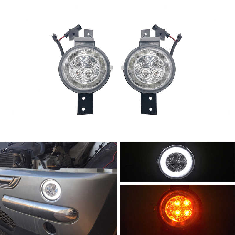 E4 R87 Clear Lens Full Led Drl Halo Amber Richtingaanwijzer Montage Kits Voor Mini Cooper Convertible R50 R52 r53 Auto-Styling
