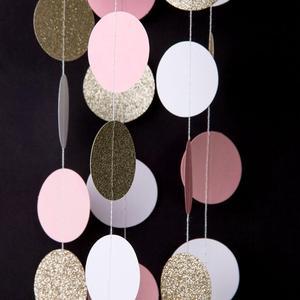 Image 5 - 11 רגליים גליטר זהב לבן ורוד גדול מעגל זר לחתונה אירועים מסיבת יום הולדת תינוק מקלחת קישוטי חדר ילדים דקור